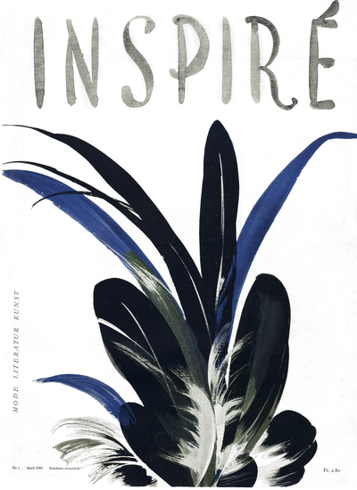 "N°1 cover- Otto Glaser- Magazine ""Inspiré"""